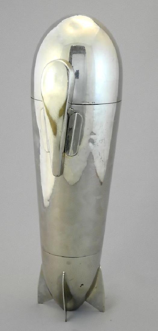 "German 19 piece plated ""Zepplin"" cocktail shaker set"