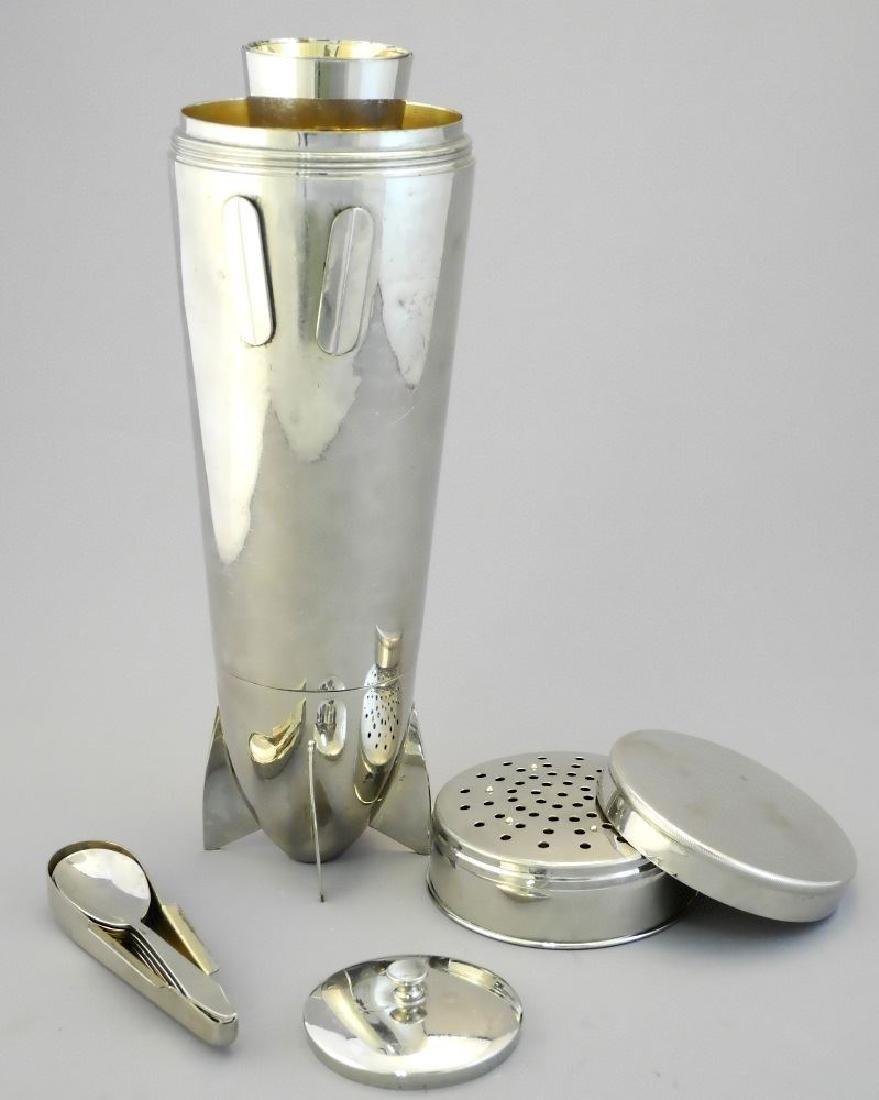 "German 19 piece plated ""Zepplin"" cocktail shaker set - 2"