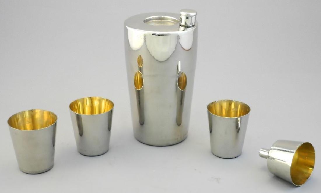 "German 19 piece plated ""Zepplin"" cocktail shaker set - 3"