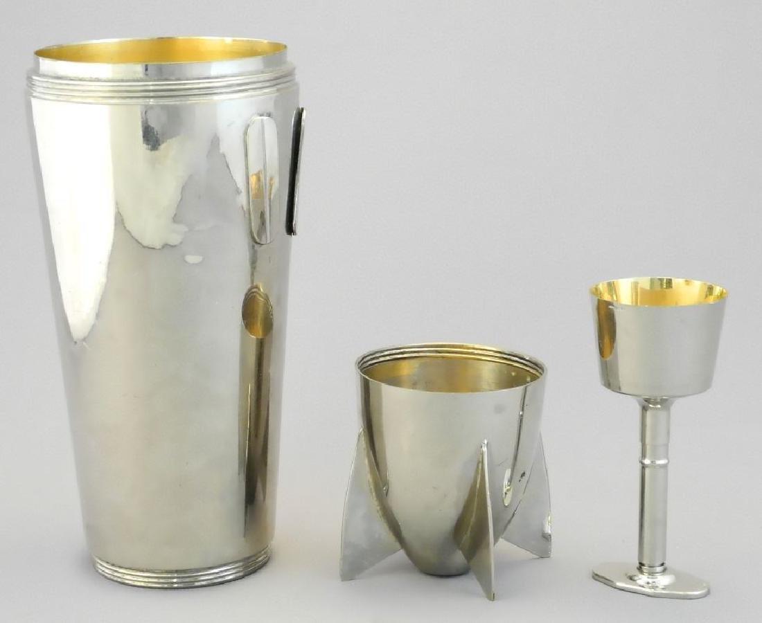 "German 19 piece plated ""Zepplin"" cocktail shaker set - 4"