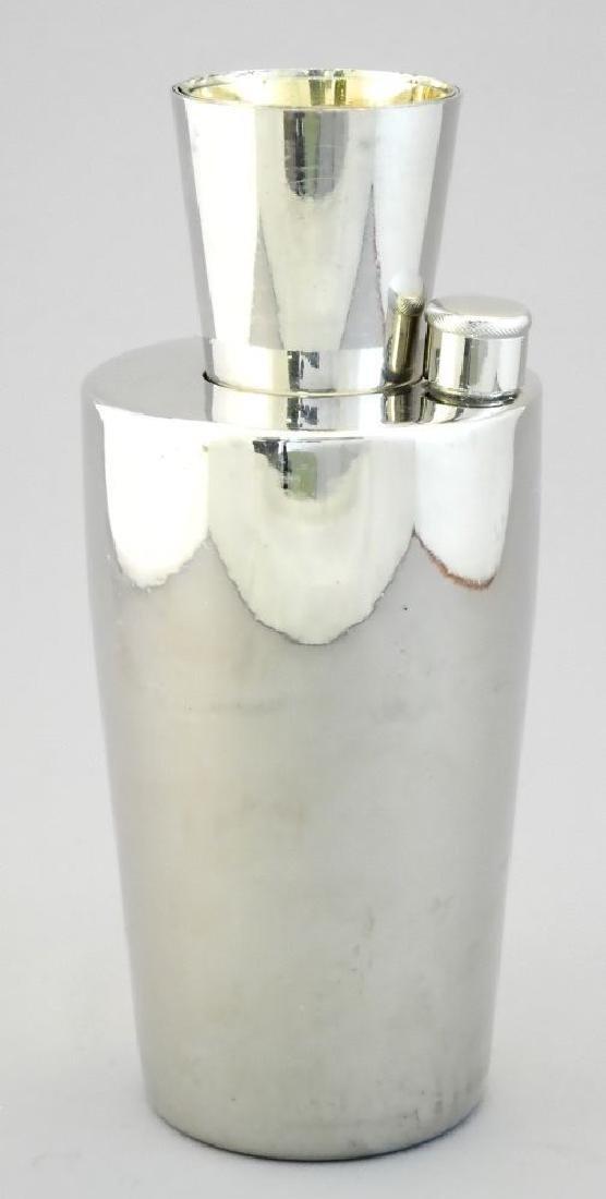 "German 19 piece plated ""Zepplin"" cocktail shaker set - 5"