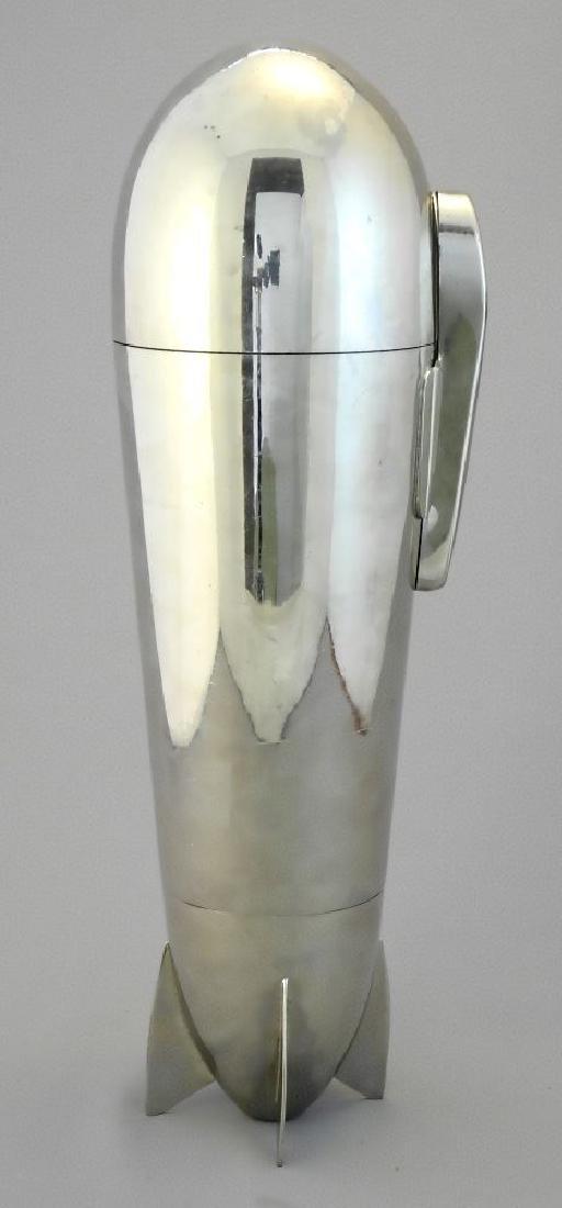 "German 19 piece plated ""Zepplin"" cocktail shaker set - 9"
