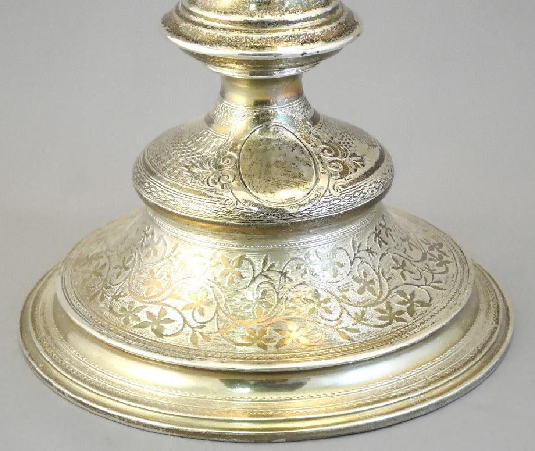 """Pair of Austrian silver candleabra, 17 1/4"""". - 6"""