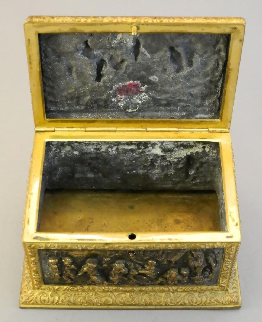 Late 19th. century French repousse dresser box signed - 6