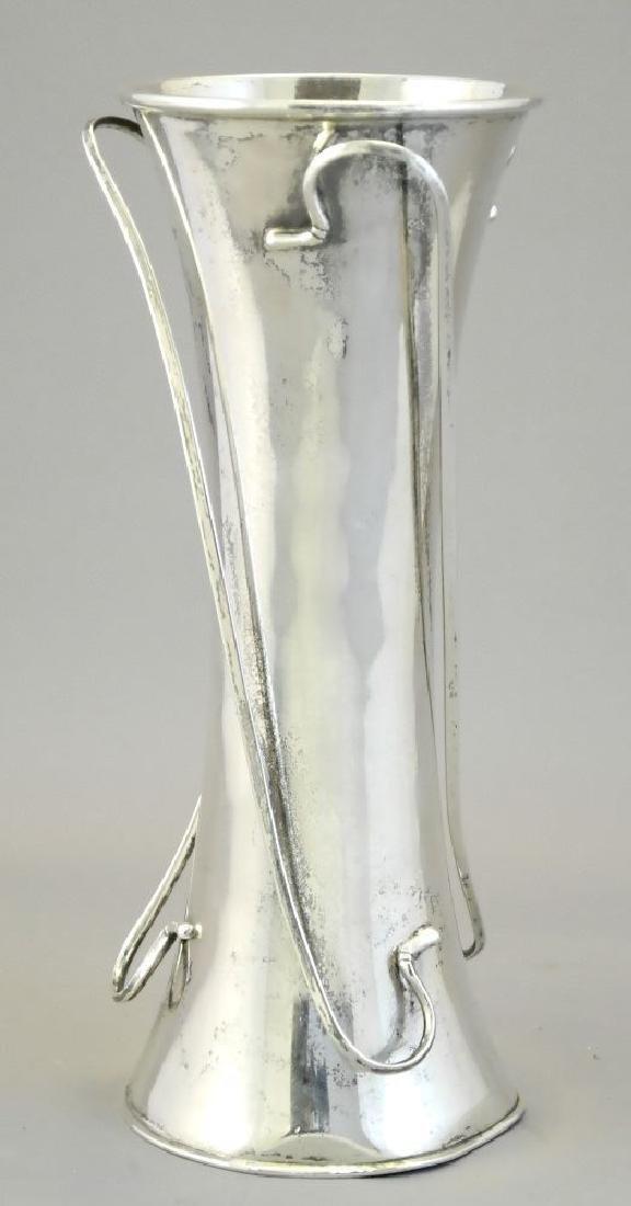 """Chinese silver Art Nouveau vase, 7 1/2""""."""