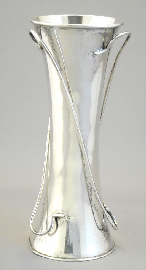 """Chinese silver Art Nouveau vase, 7 1/2"""". - 3"""