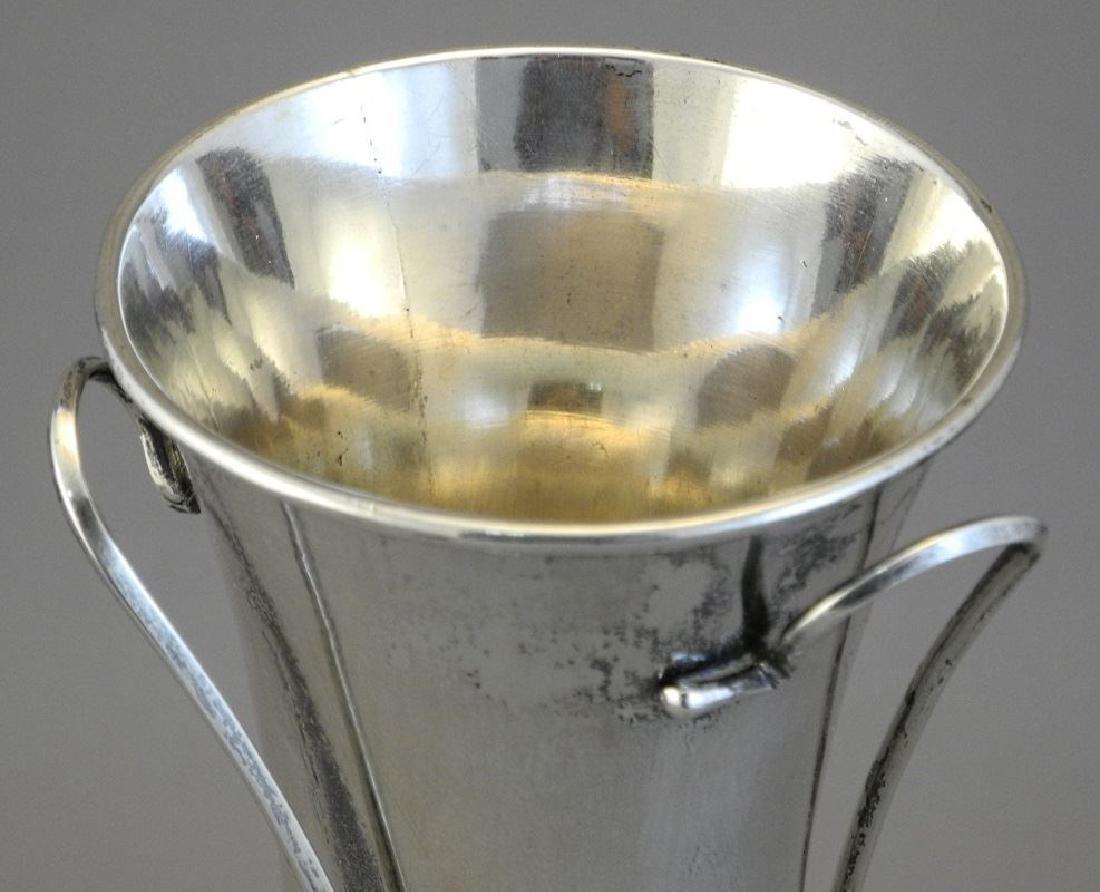 """Chinese silver Art Nouveau vase, 7 1/2"""". - 7"""