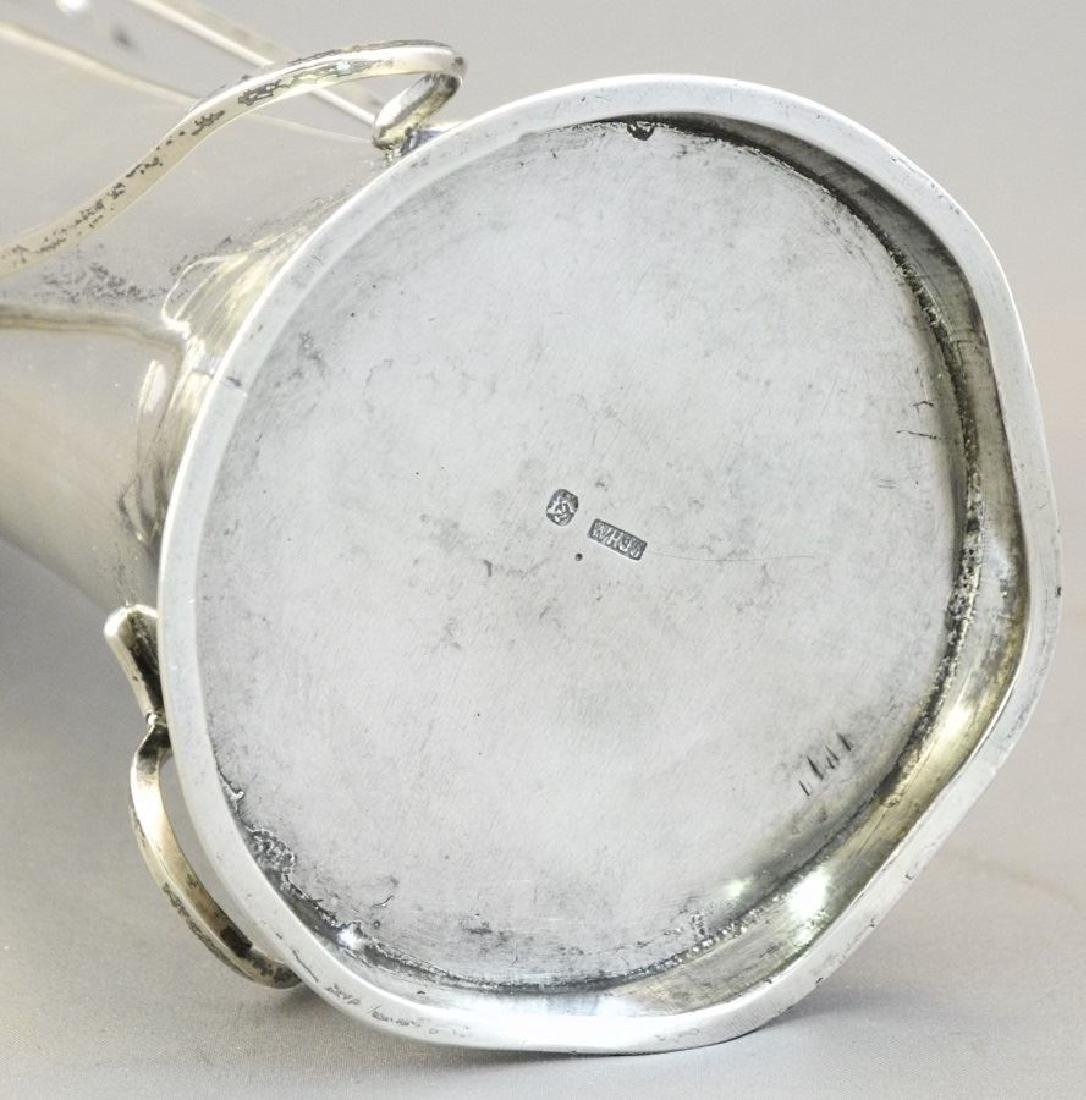 """Chinese silver Art Nouveau vase, 7 1/2"""". - 8"""