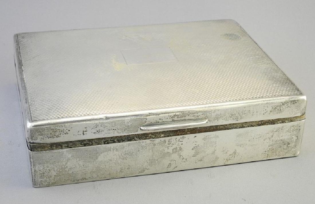 """Hallmarked silver cigarette box, 6 3/4""""."""