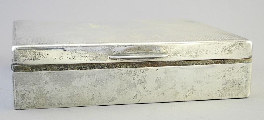"""Hallmarked silver cigarette box, 6 3/4"""". - 2"""