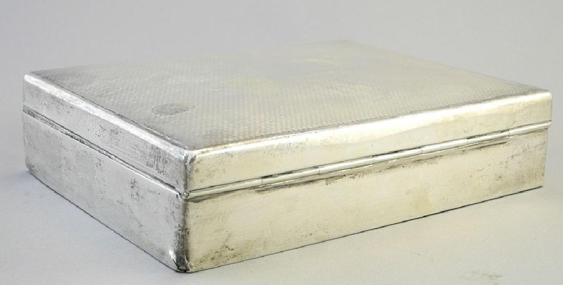 """Hallmarked silver cigarette box, 6 3/4"""". - 3"""