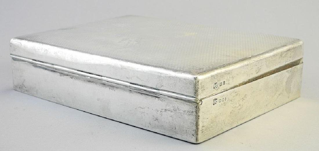 """Hallmarked silver cigarette box, 6 3/4"""". - 4"""
