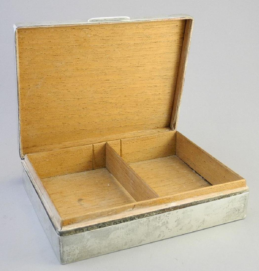 """Hallmarked silver cigarette box, 6 3/4"""". - 5"""