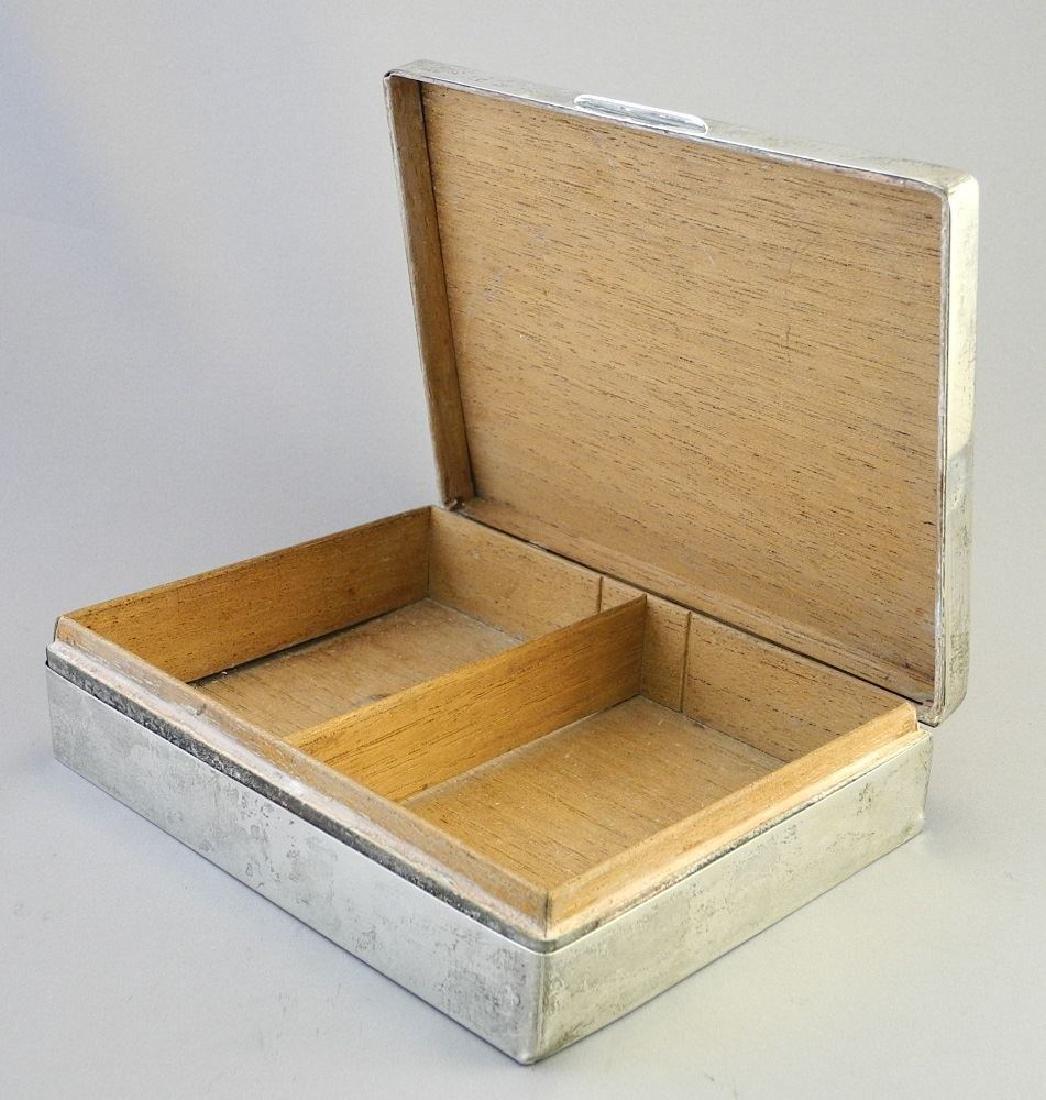"""Hallmarked silver cigarette box, 6 3/4"""". - 6"""
