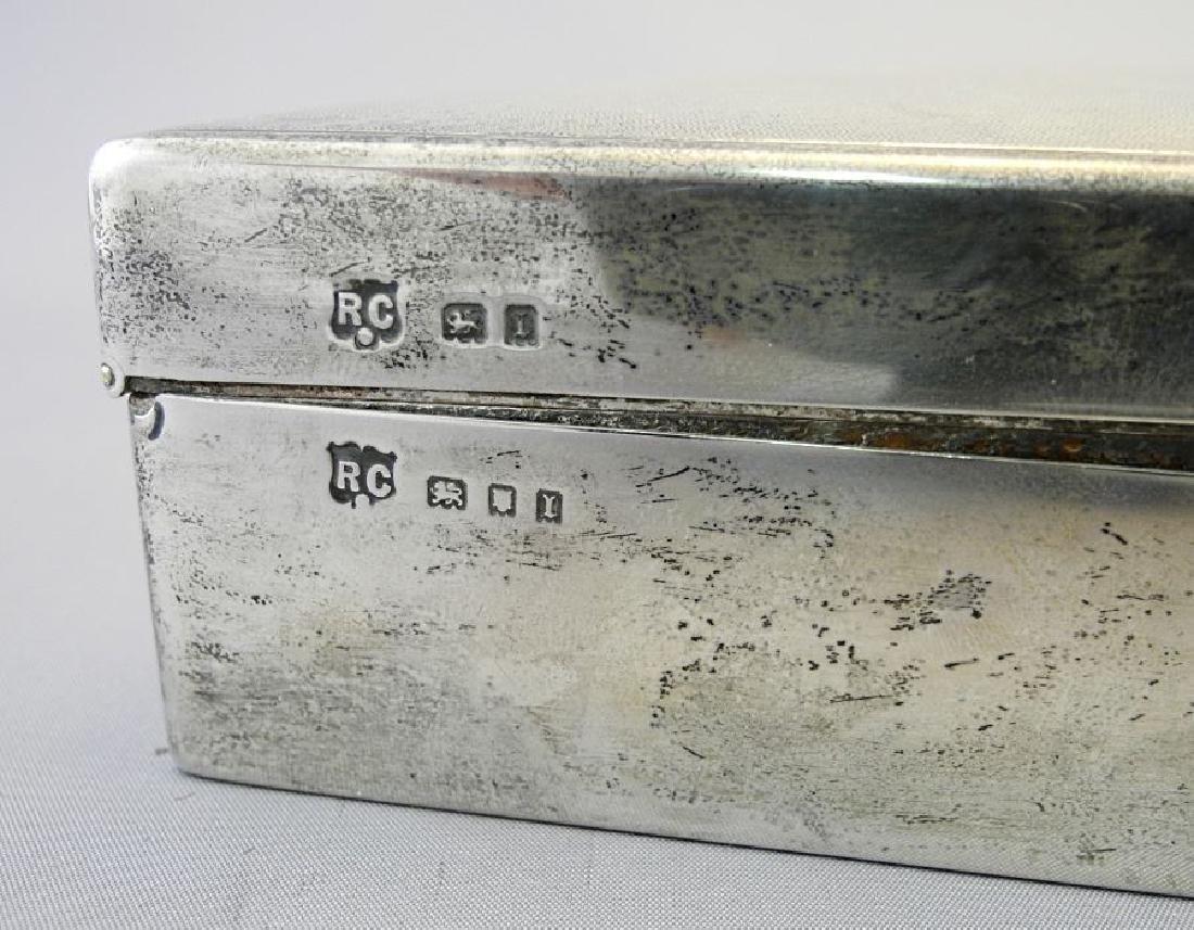 """Hallmarked silver cigarette box, 6 3/4"""". - 8"""