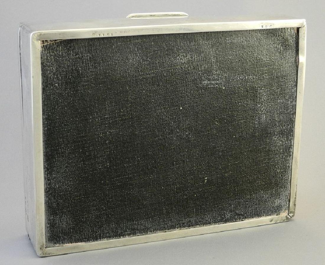"""Hallmarked silver cigarette box, 6 3/4"""". - 9"""