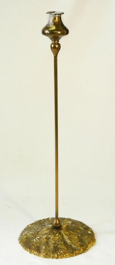 Art Nouveau brass candlestick-base marked B & H(Bradley