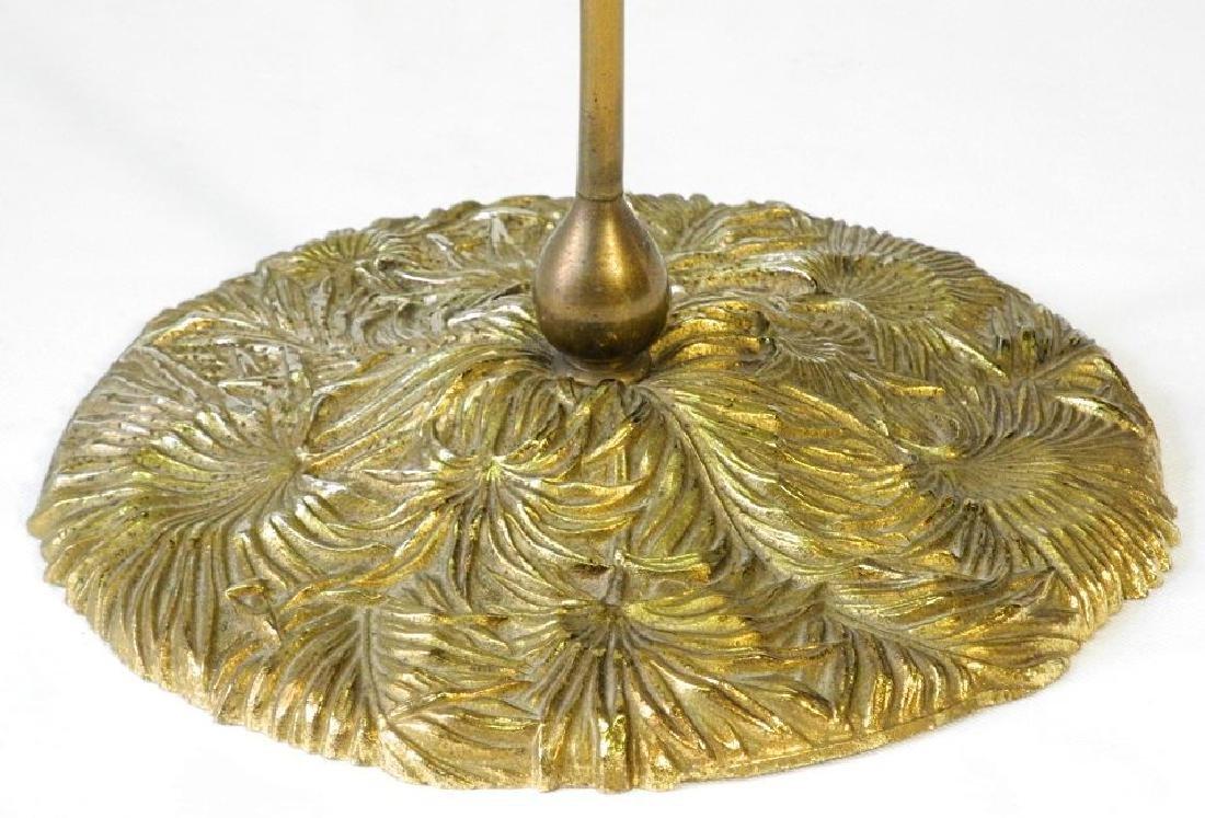 Art Nouveau brass candlestick-base marked B & H(Bradley - 2