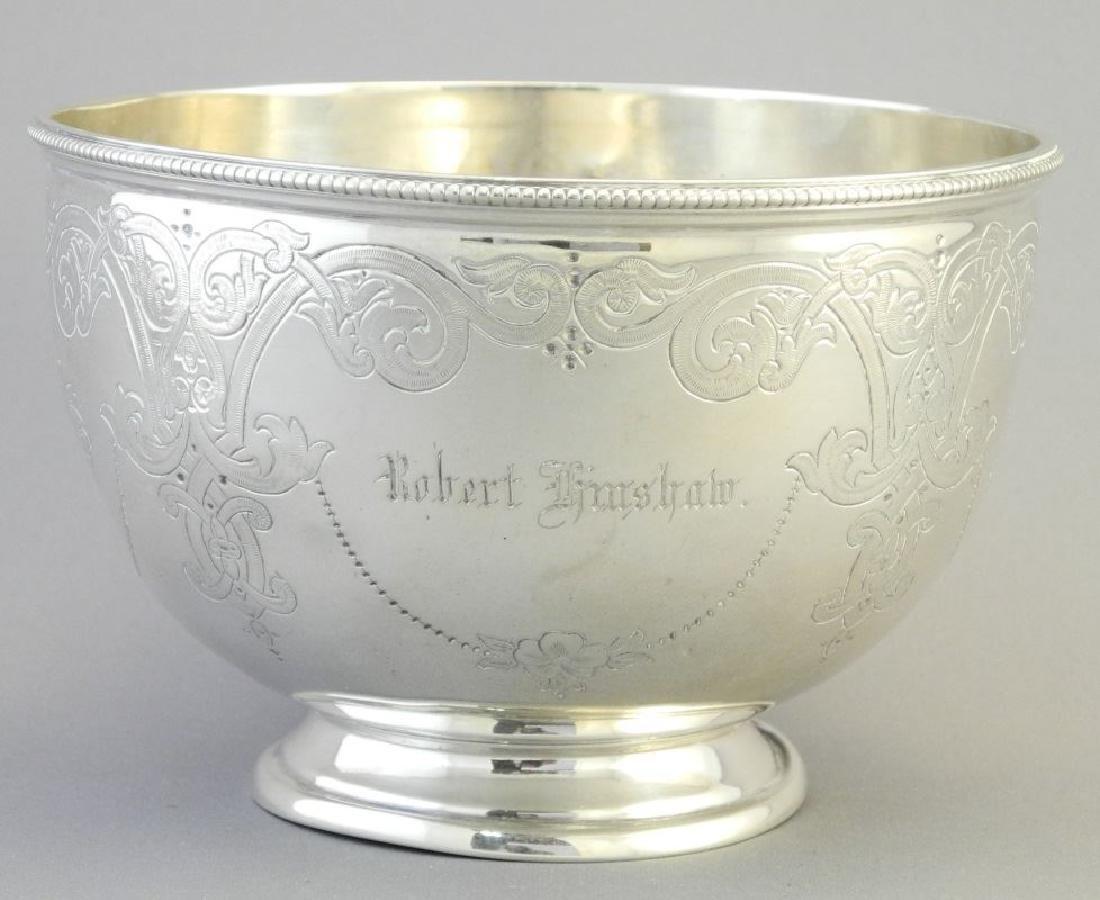 Victorian silver bowl- Sheffield 1864, maker Martin