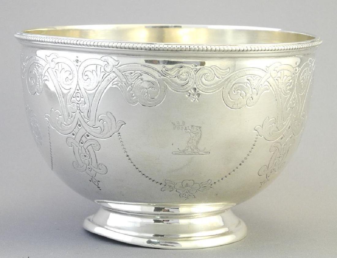 Victorian silver bowl- Sheffield 1864, maker Martin - 2