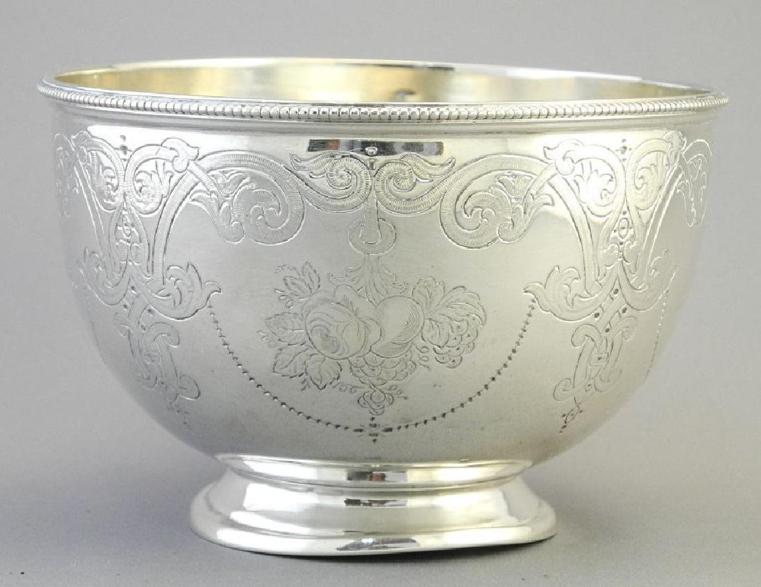 Victorian silver bowl- Sheffield 1864, maker Martin - 3