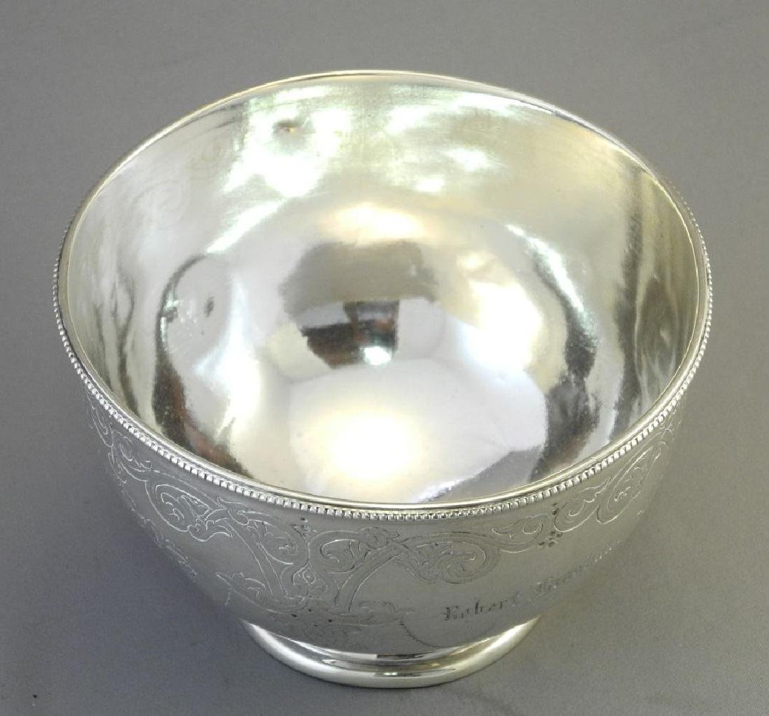 Victorian silver bowl- Sheffield 1864, maker Martin - 4