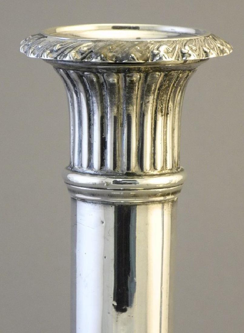 "Pair of Georgian silver candlesticks 8"". - 8"