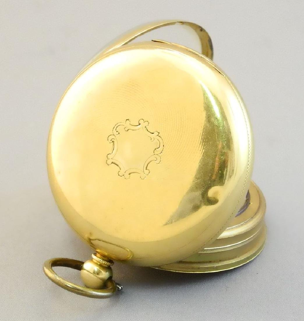 19th. cen.gold key wind pocket watch marked 18- maker - 10
