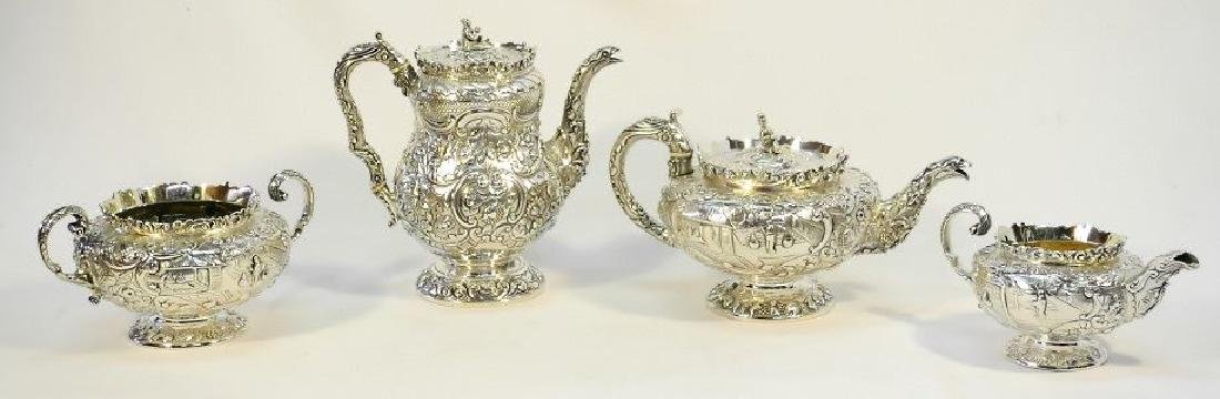 Sterling silver 4 pc. tea and coffee service by Michael