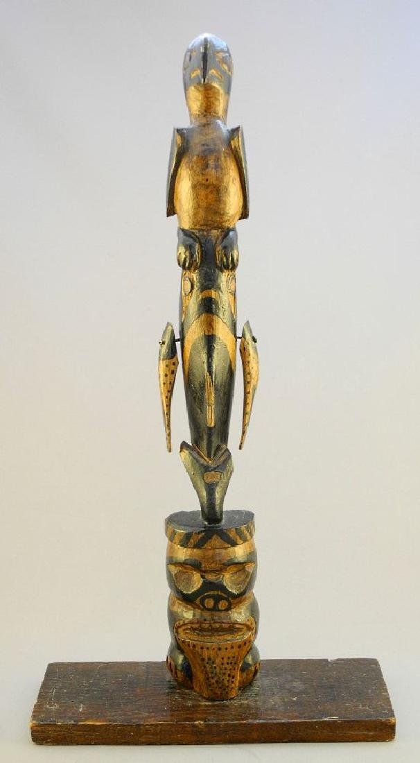 North West Coast Native carved and painted cedar model