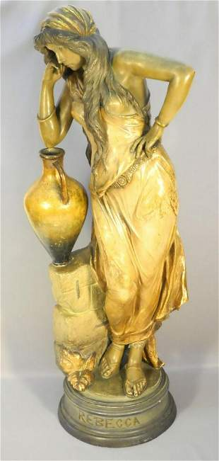 Goldscheider pottery figure of Rebecca signed Chas,