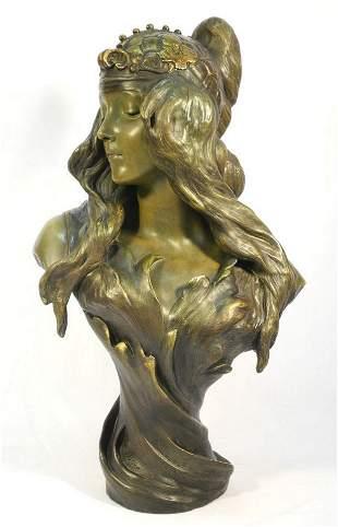 "Goldscheider pottery figure, 24 1/2"" (Chere)."