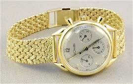 Le Coutre 14K gold chronograph with 14K strap, just