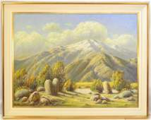 "Oil on canvas signed Paul Grimm, 30"" x 40"", ""Desert"