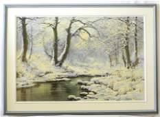 "Oil painting signed Neogrady Laszlo, 24""x36"",""Winter"