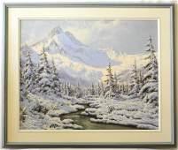 "Oil painting signed Neogrady Laszlo, 24"" x 30"",""Winter"