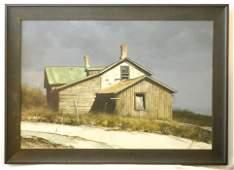 "Oil on board signed G.Rock, 23"" x 34"", ""Old Farm"