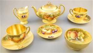 Aynsley orchard gold cabaret tea set.