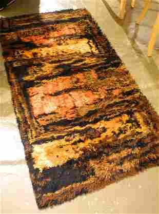 """Rya style rug, 3' x 5'4""""."""