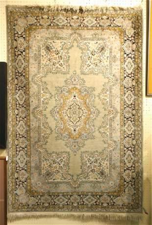 Indian silk rug, 4' x 6'.