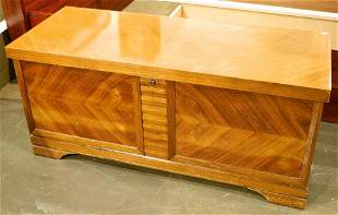 Lane Art Deco style walnut cedar lined chest.