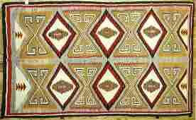 "Navajo ""Two Grey Hills"" rug, 7'5"" x 4'9""."