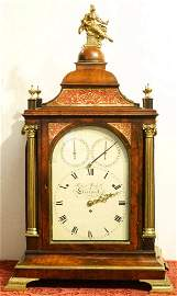 Musical 12 tune mahogany Bracket Clock by Roskell -
