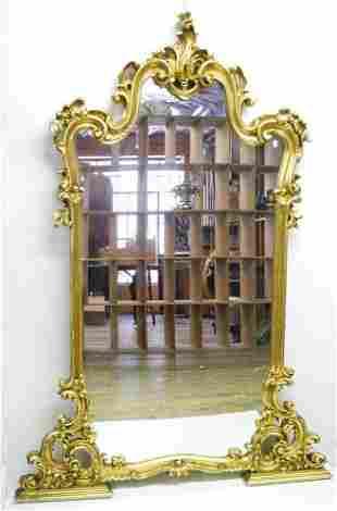 Louis XIV style giltwood standing / hanging mirror, 61