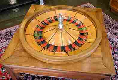 """Mason & Co. Markers Chicago """"Roulette Wheel"""" set in Old"""