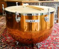 "B & H ""AJAX"" London Copper Kettle Drum, 21"" x 28"""