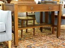 Oak Arts & Crafts Library Table.