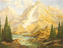 """Oil on Board signed Robert Wood, 23 1/4"""" x 29 1/2"""","""