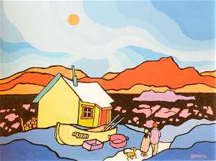 """Acrylic on canvas signed Ted Harrison 2005, 14"""" x 18"""","""