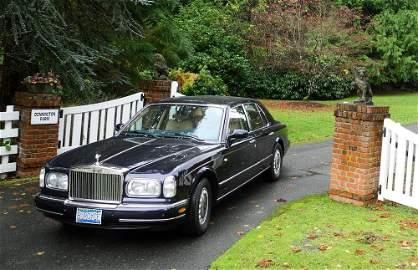 2001 Rolls Royce Silver Seraph, odometer showing